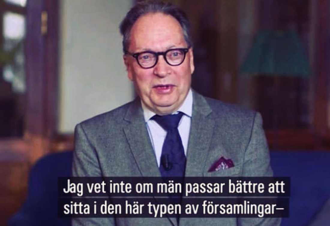 """Horace Engdahl, ledamot i Svenska Akademien, i dokumentären """"Det slutna sällskapet""""."""