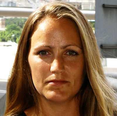 Aftonbladets utsända reporter Annelie Edsmyr.