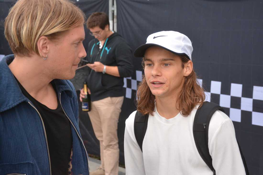 Oski ger en segerintervju efter sin vinst i Malmö.