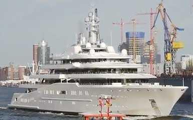 Abramovitj privatyacht, den största i världen.