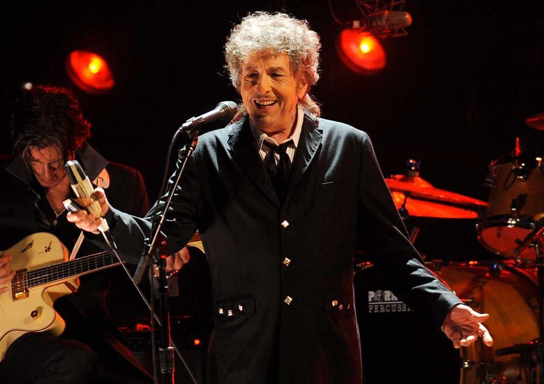 Bob Dylan, dock ej från Globen. Arkivbild eftersom det råder fotoförbud under hans konserter.
