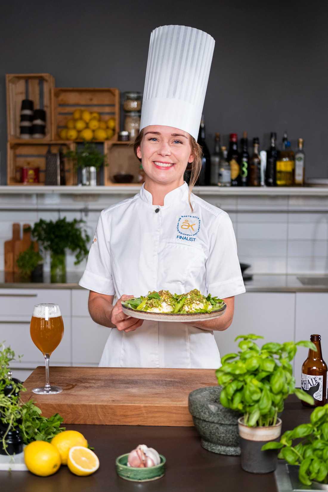 """Årets kockfinalisten Louise Johansson: """"Först och främst vill jag vara med och bidra och utveckla svensk gastronomi.""""."""