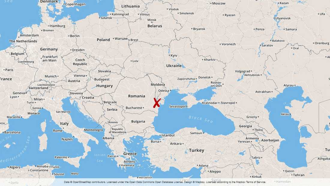 Fartyget beslagtogs i hamnen i staden Izmail i Ukraina.