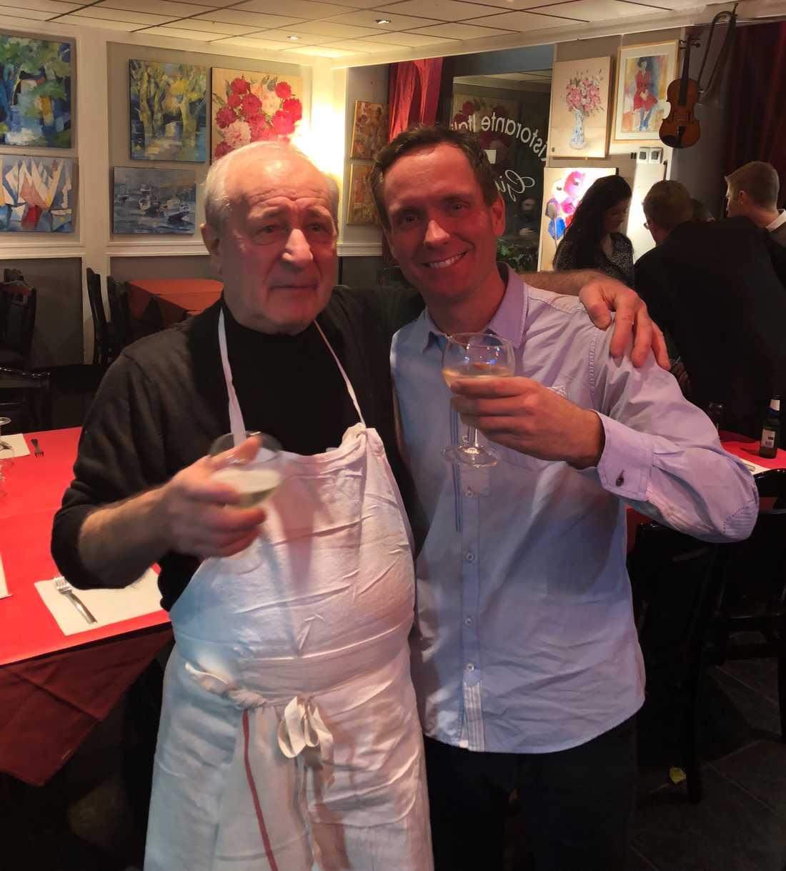 Jeacomo Guerra öppnade upp sin restaurang exklusivt för Björn Goop.
