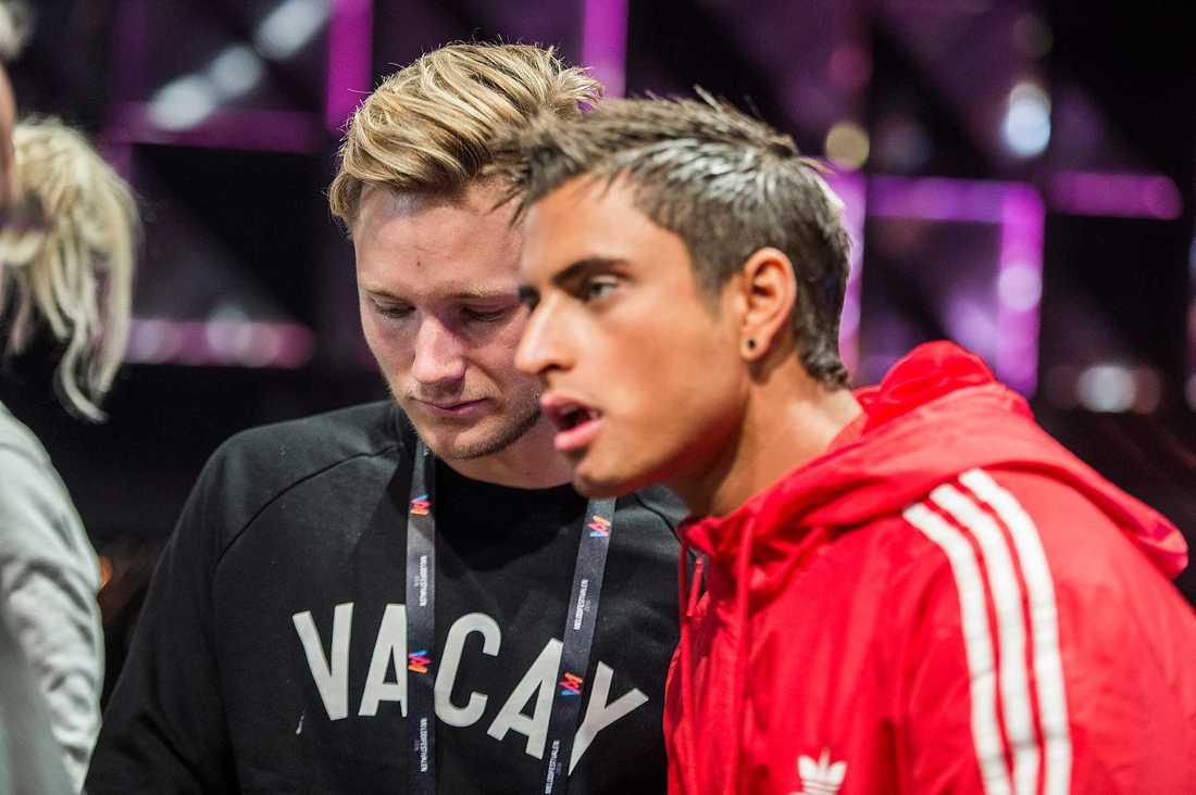 Viktor Frisk var inte i toppform när han och Samir Badran repade inför Andra chansen på torsdagen.