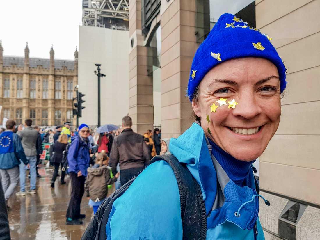 Esther Wiley från Southampton vill att Storbritannien blir kvar i EU.