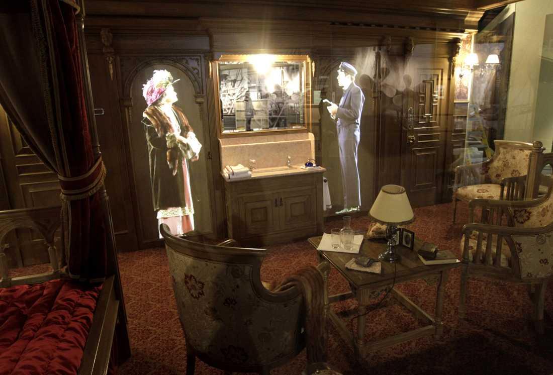 Så här såg första klass-hytten ut ombord Titanic.