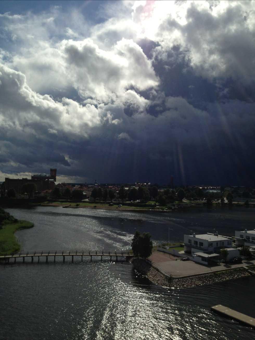 Storm på väg. I Kalmar