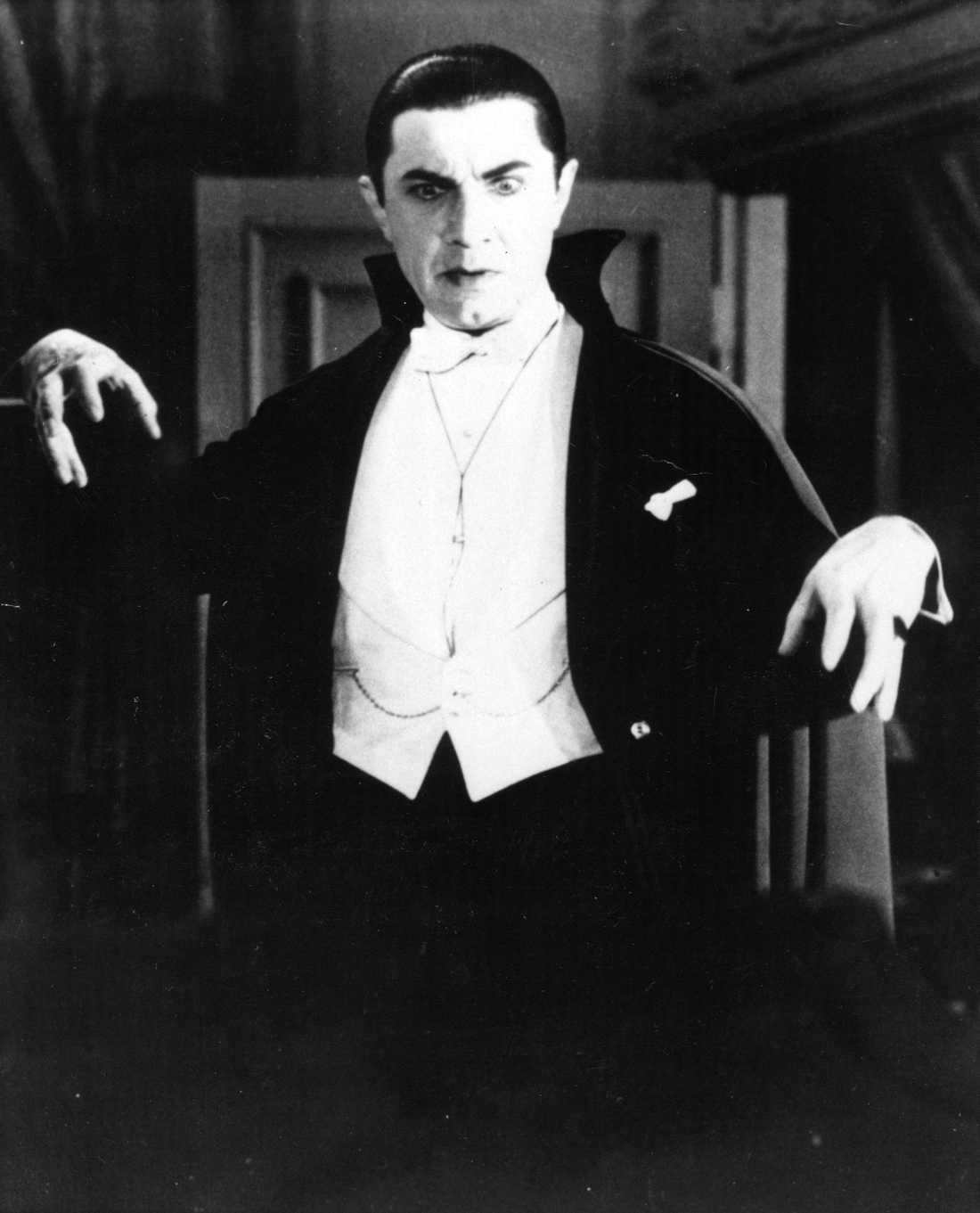 Bela Lugosi som den klassiska Dracula, i filmen från 1931.