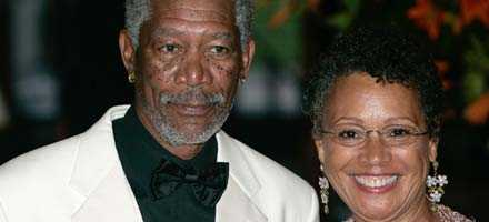 Morgan Freeman och hans fru sedan 24 år, Myrna Colley-Lee.