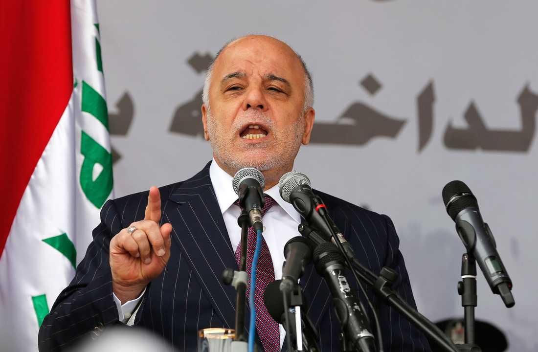 Iraks premiärminister Haider al-Abadi.