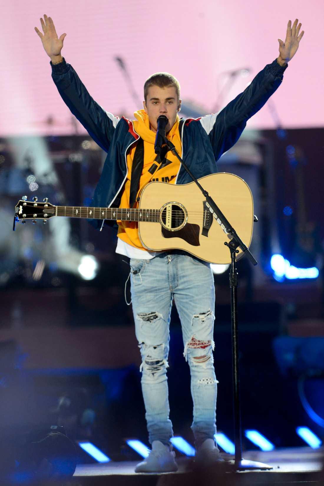 Justin Bieber stod för ett bejublat framträdande.