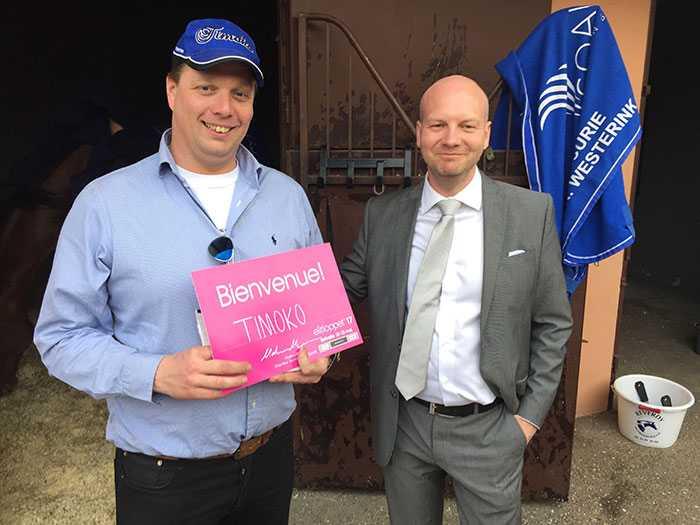 Timokos tränare Richard Westerink och Solvallas sportchef Markus Myron.