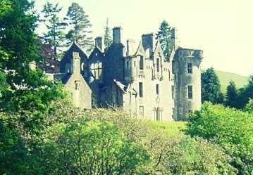 Slottet Dunans Castle i Skottland.