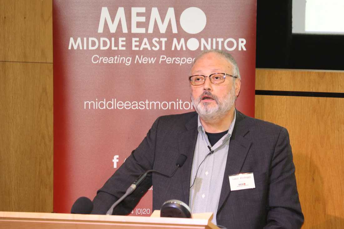 Jamal Khashoggi talade vid ett event i London den 29:e september.