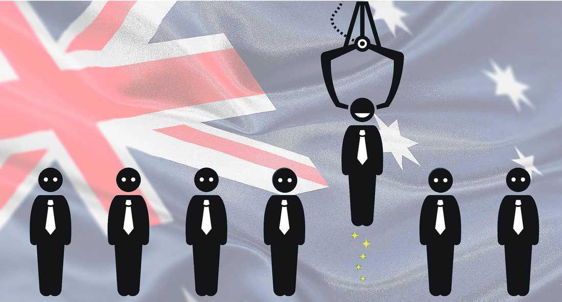 Australiens privata arbetsförmedlare vinstoptimerar. Lovande objekt får resurser, hopplösa fall lämnas i sticket.