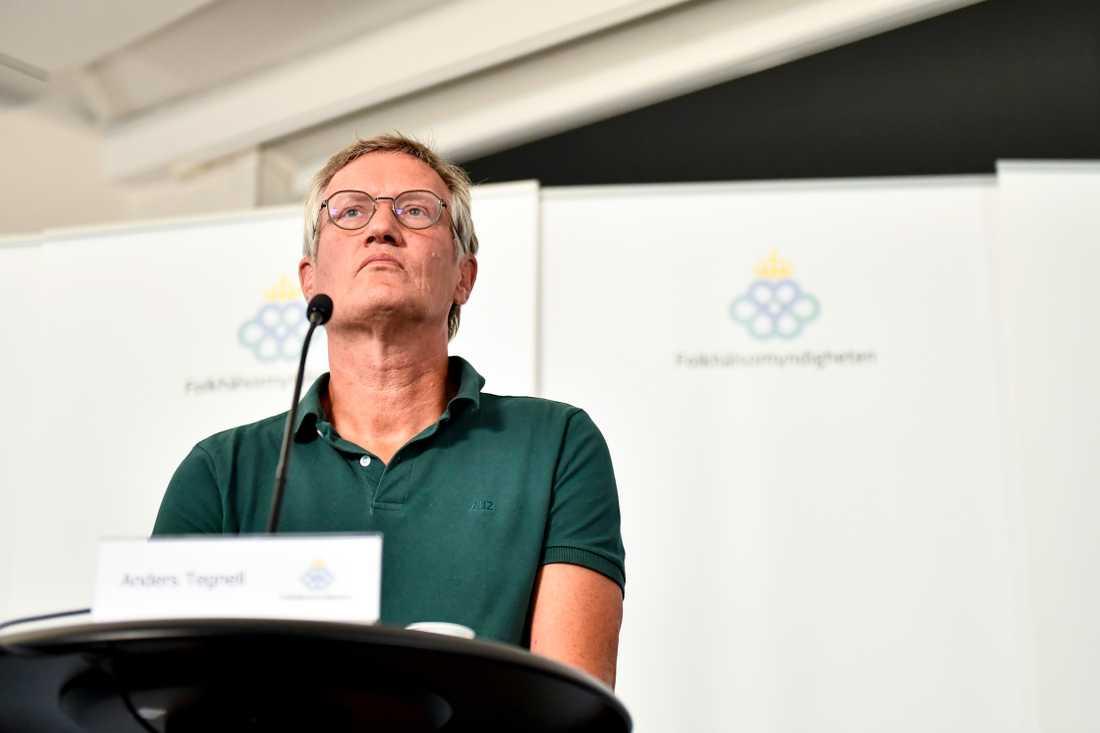 Anders Tegnell, statsepidemiolog vid Folkhälsomyndigheten, är oroad över att fallen av covid-19 ökar i världen och Europa.