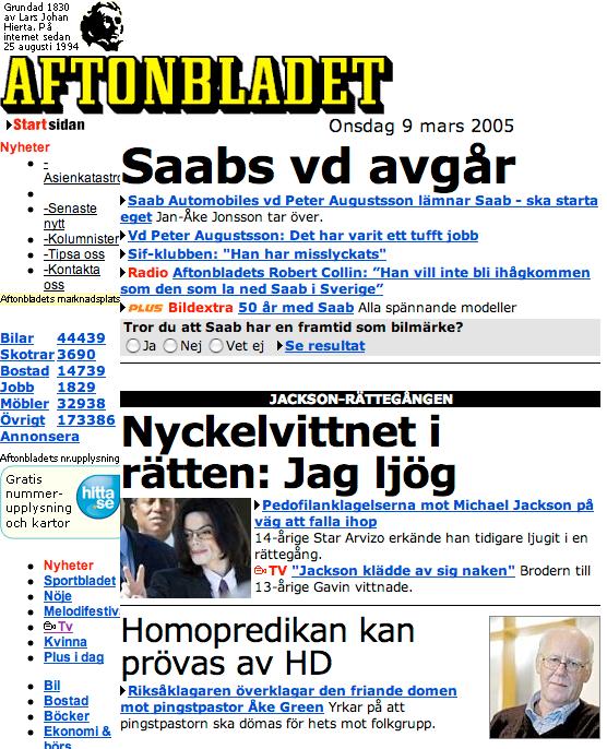 Aftonbladet 2005.
