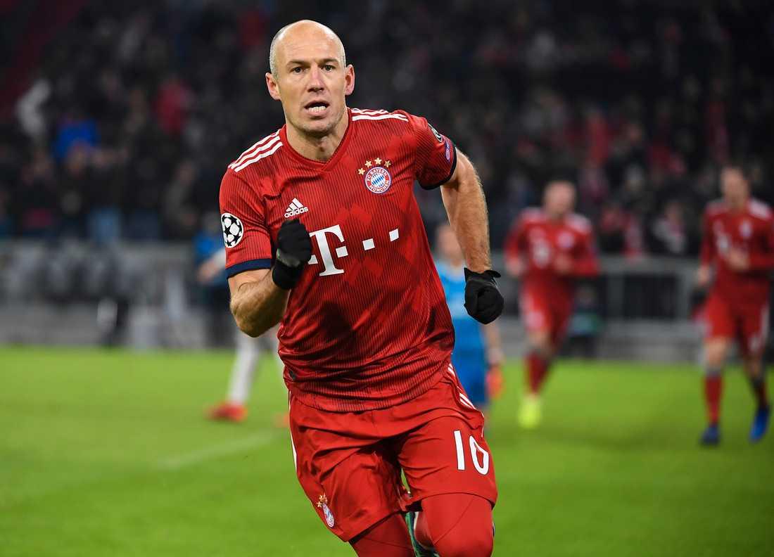 Arjen Robben har tidigare meddelat att det här blir hans sista säsong i tyska storklubben.