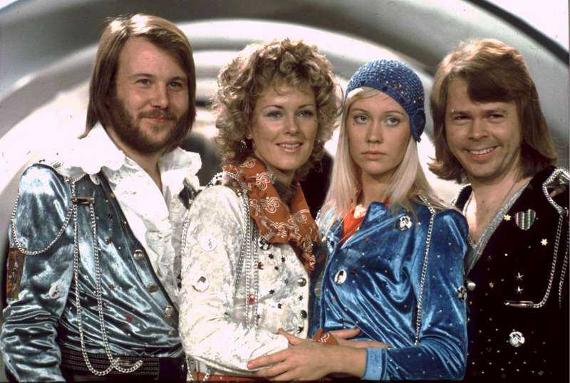 Agnetha med ABBA.