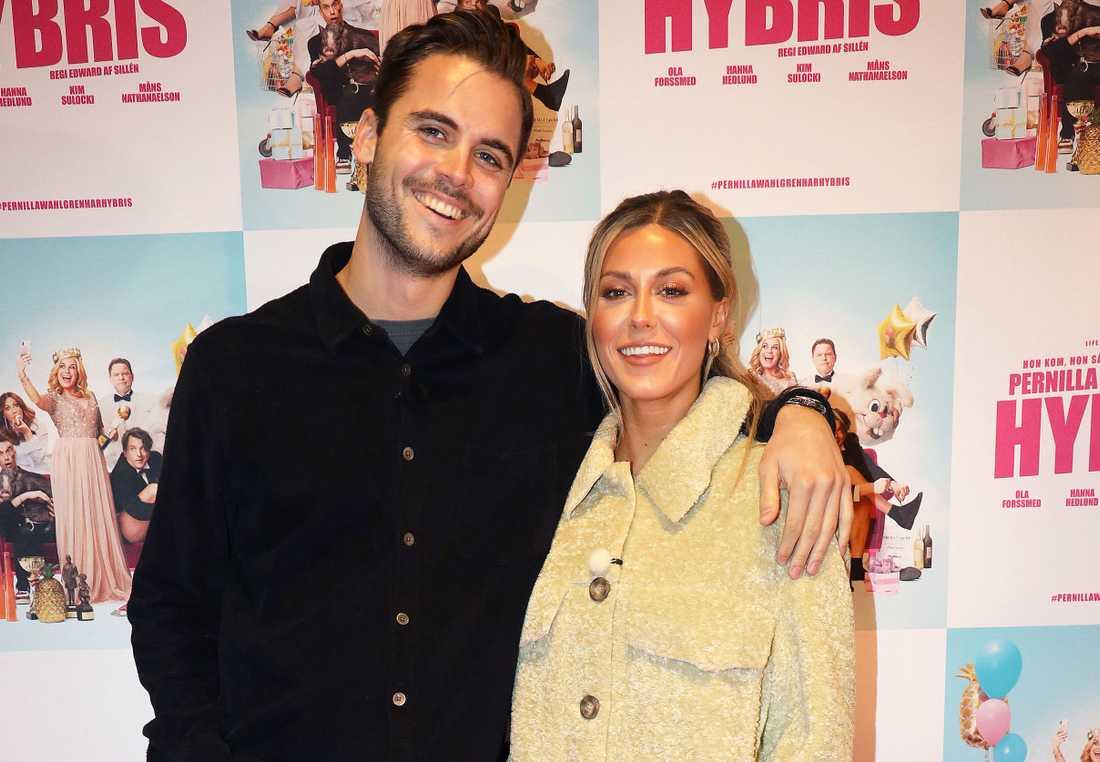 "Phillipe Cohen och Bianca Ingrosso på premiären av Pernilla Wahlgrens show ""Hybris""."