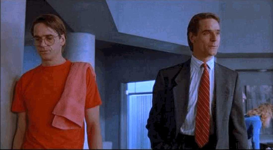 """Jeremy Irons i """"Dubbelgångare"""" (1988)."""