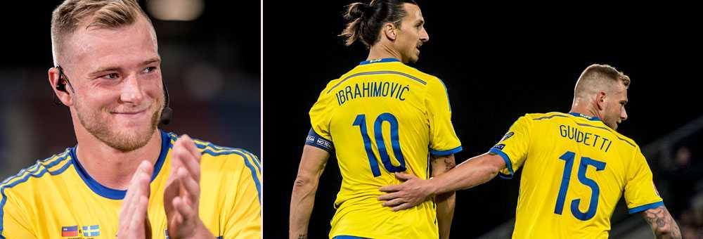 Guidetti får chansen bredvid Zlatan