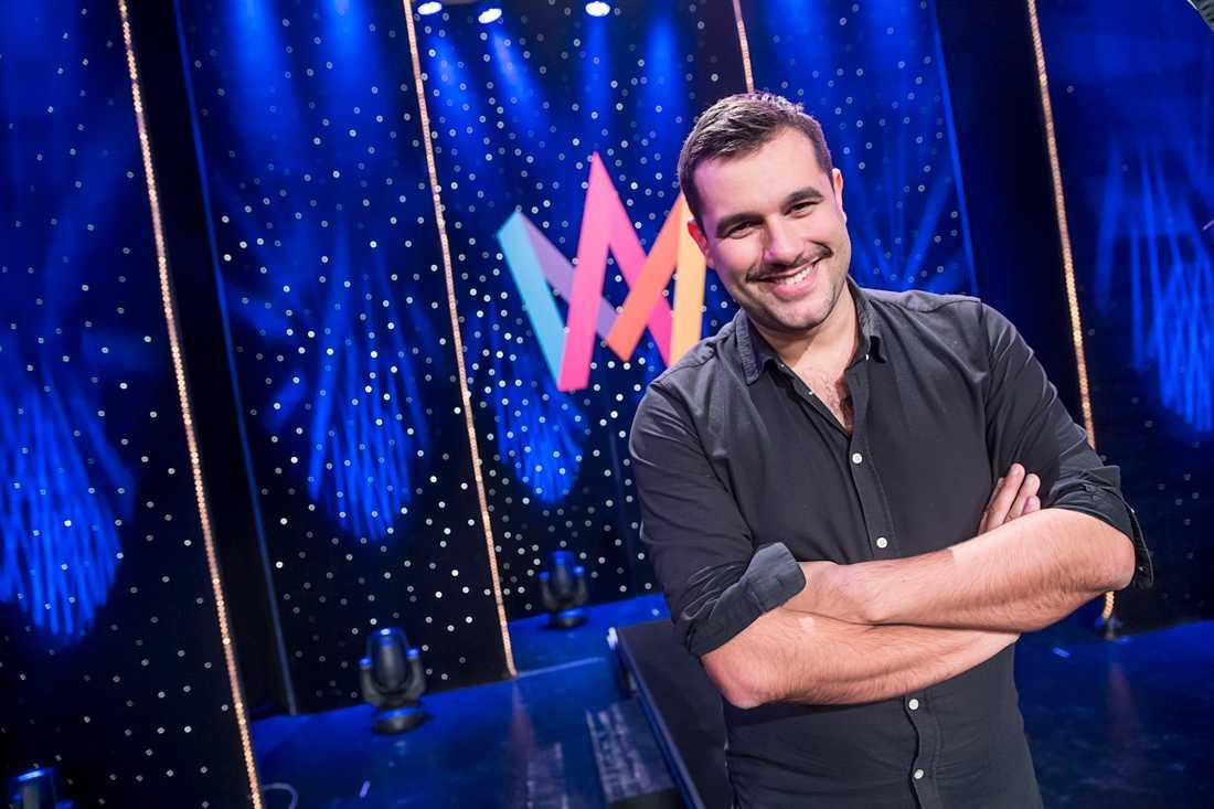 Edward af Sillén inför Melodifestivalen 2016 som han regisserade och skrev manus till.