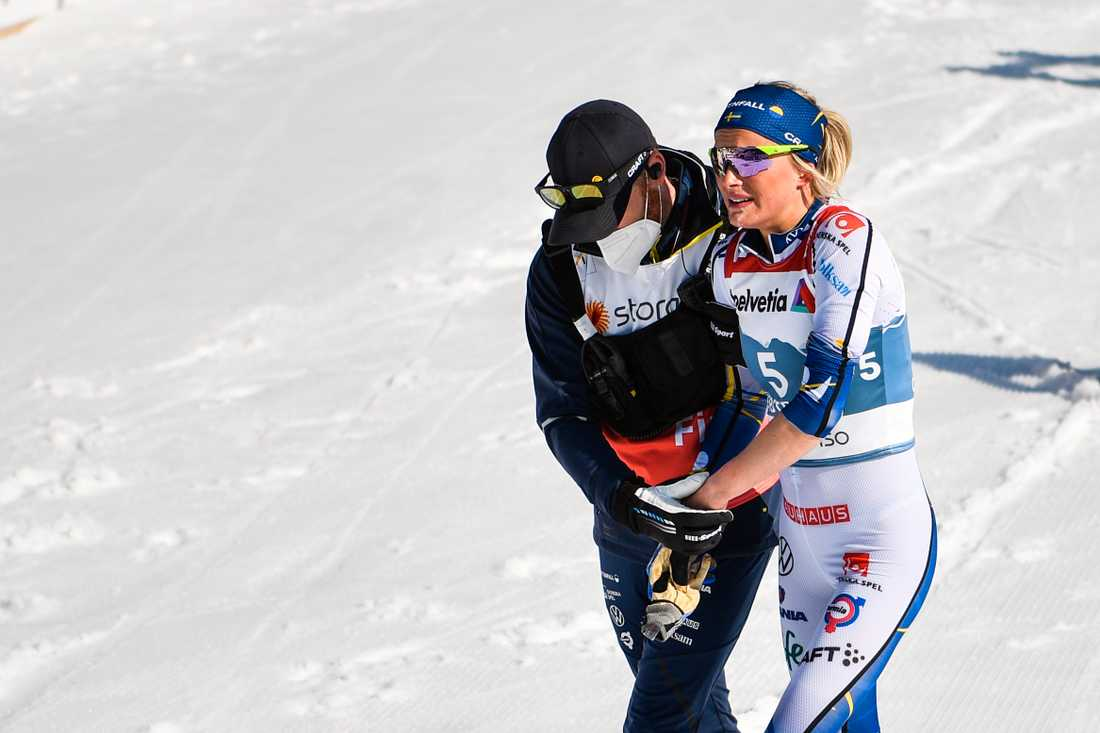 Frida Karlsson under VM i Oberstdorf 2021.