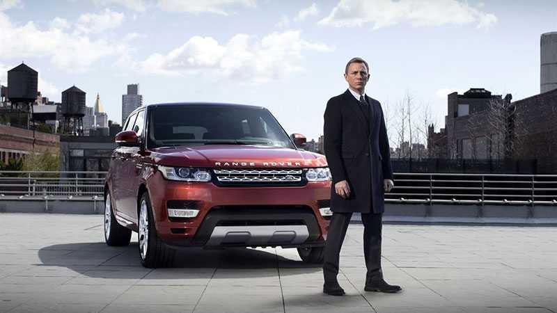 Daniel Craig och Range Rover Sport