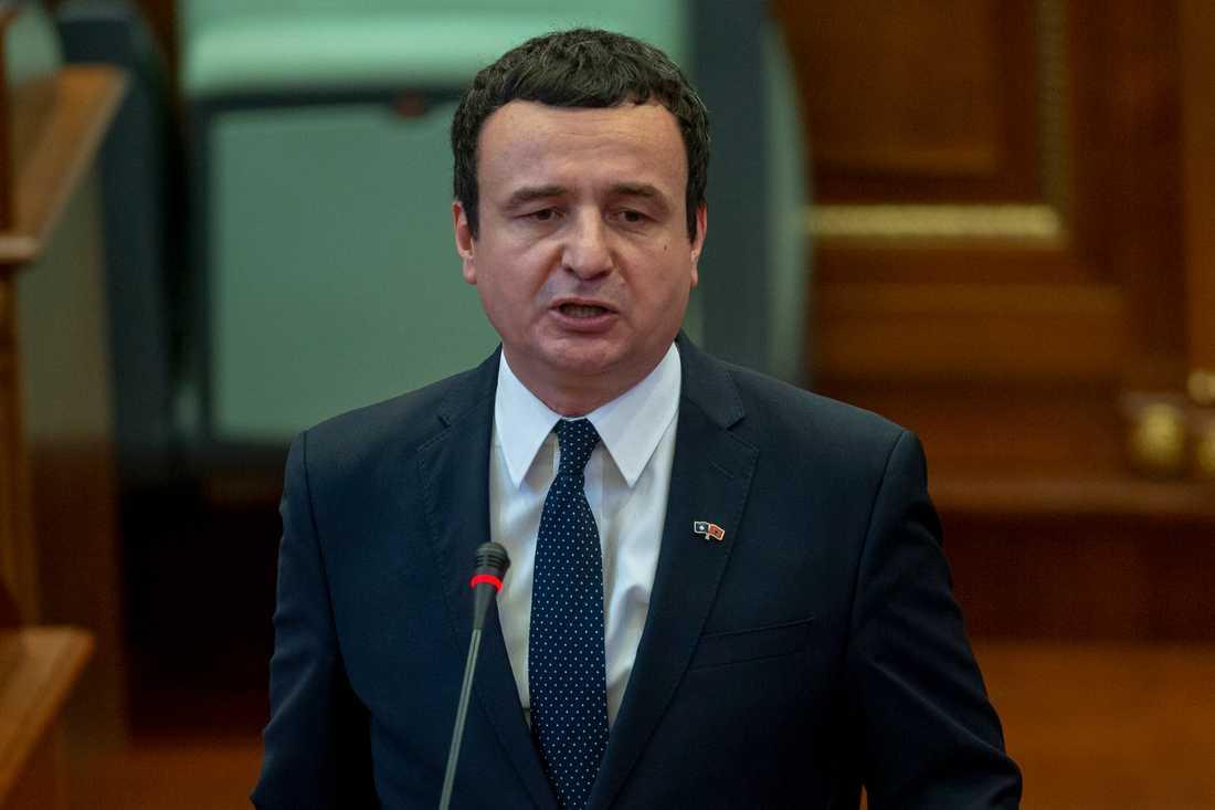 Kosovos förre premiärminister Albin Kurti. Arkivbild.