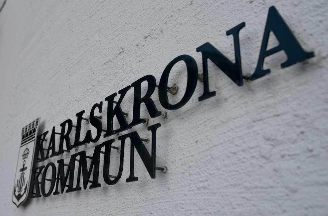 Karlskrona kommun arbetar med en klimatanpassningsplan för att hantera stigande havsnivåer i framtiden. Arkivbild.