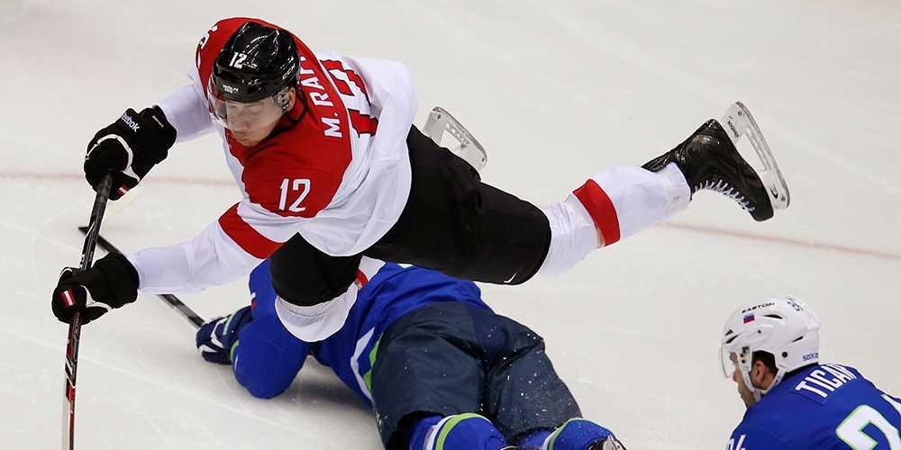 Förre Leksandsspelaren Michael Raffl, numera i Philadelphia Flyers.
