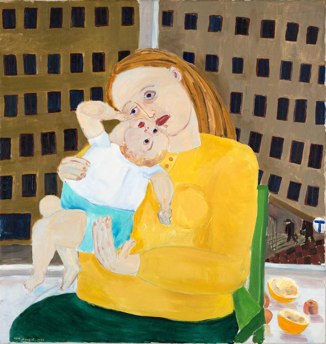 """Lena Cronqvists """"Gul madonna (en känsla av otillräcklighet)"""" från 1970."""