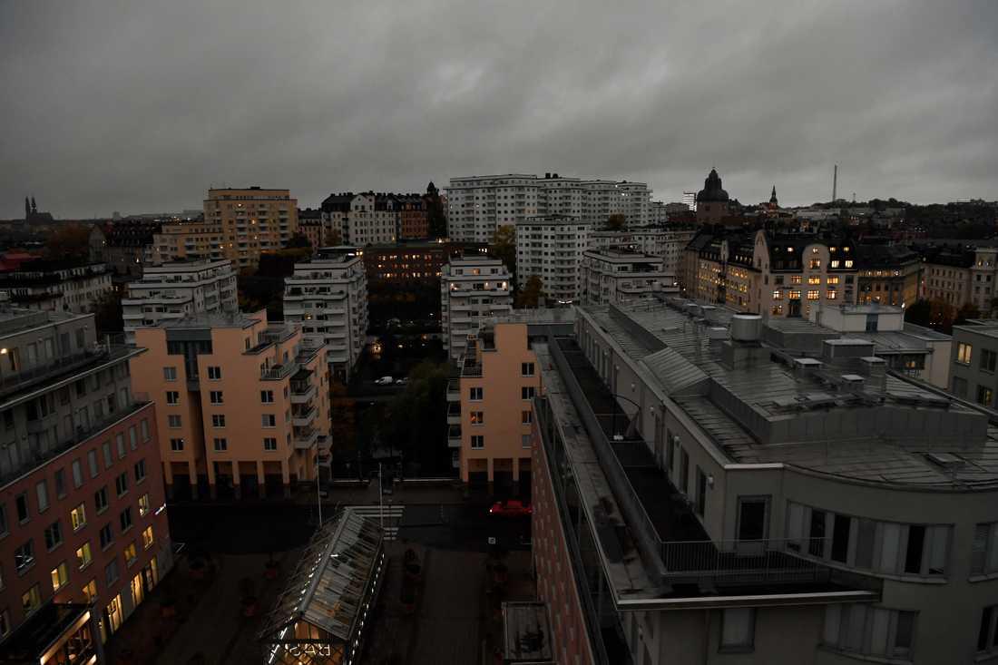 Stockholm på tisdagsmorgonen.