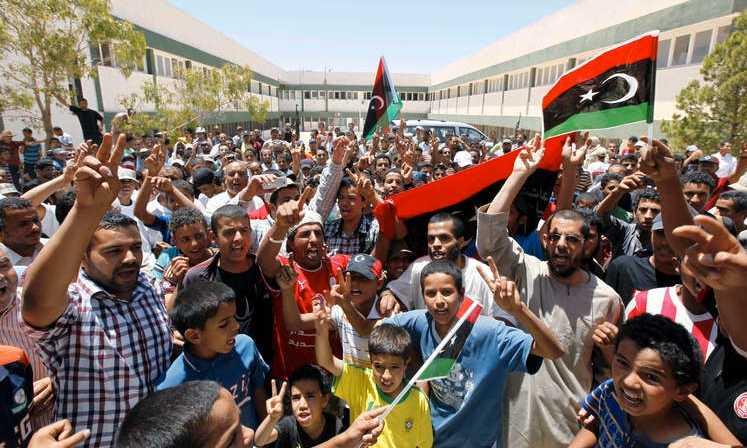 Rebeller i Libyen.