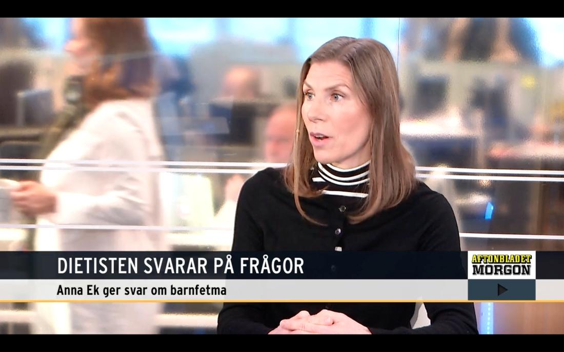 Forskaren Anna Ek svarade på tittarnas frågor om barnfetma i AB Morgon.
