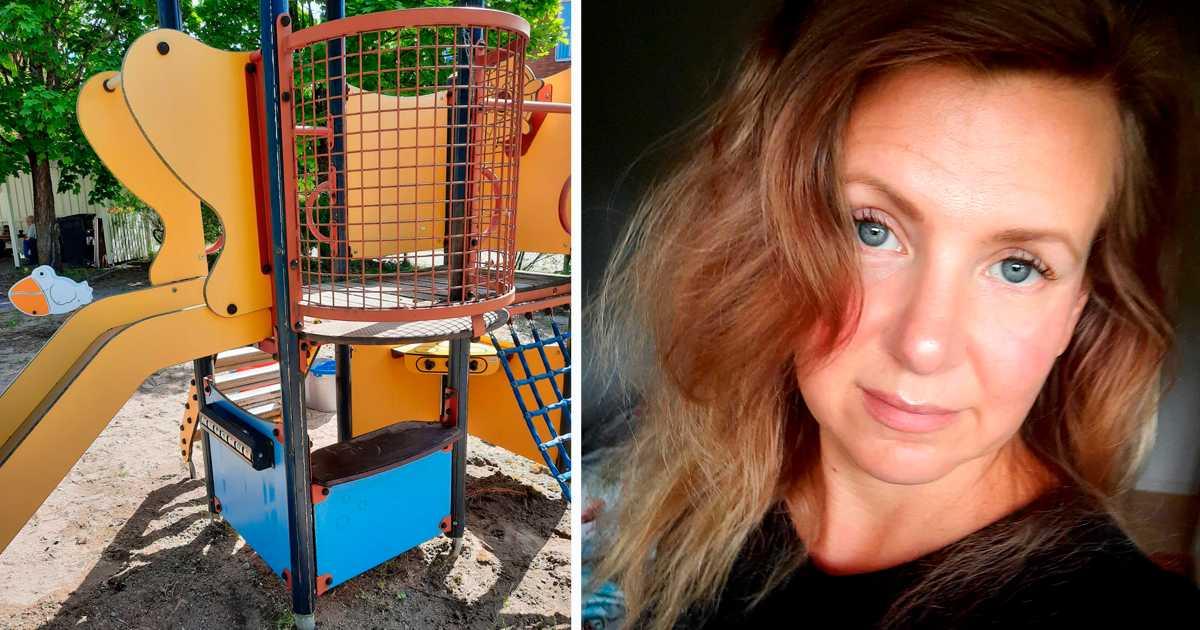 Ghina Helander rengjorde stadens lekpark på bara en timme.