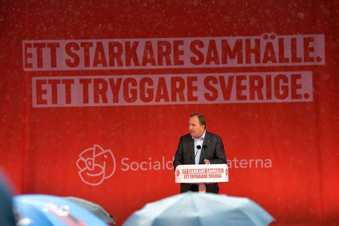 Stefan Löfven sommartalar i Norrtälje.