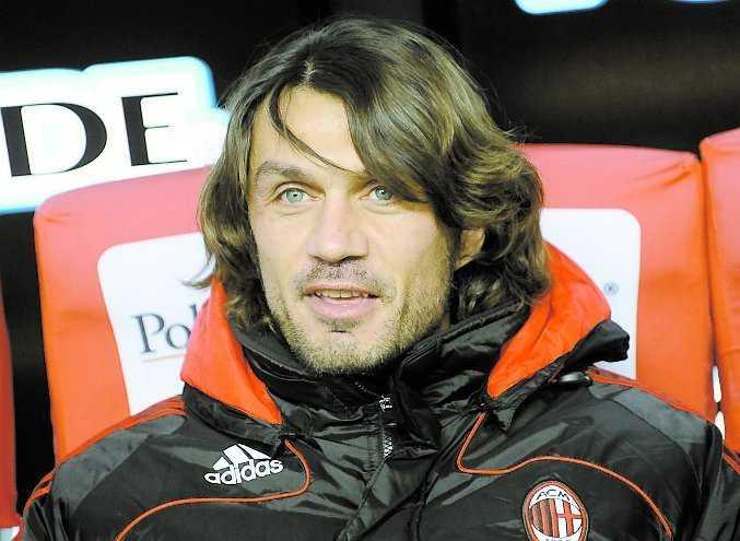Paolo Maldini gjorde sitt första Milano-derby 1985.