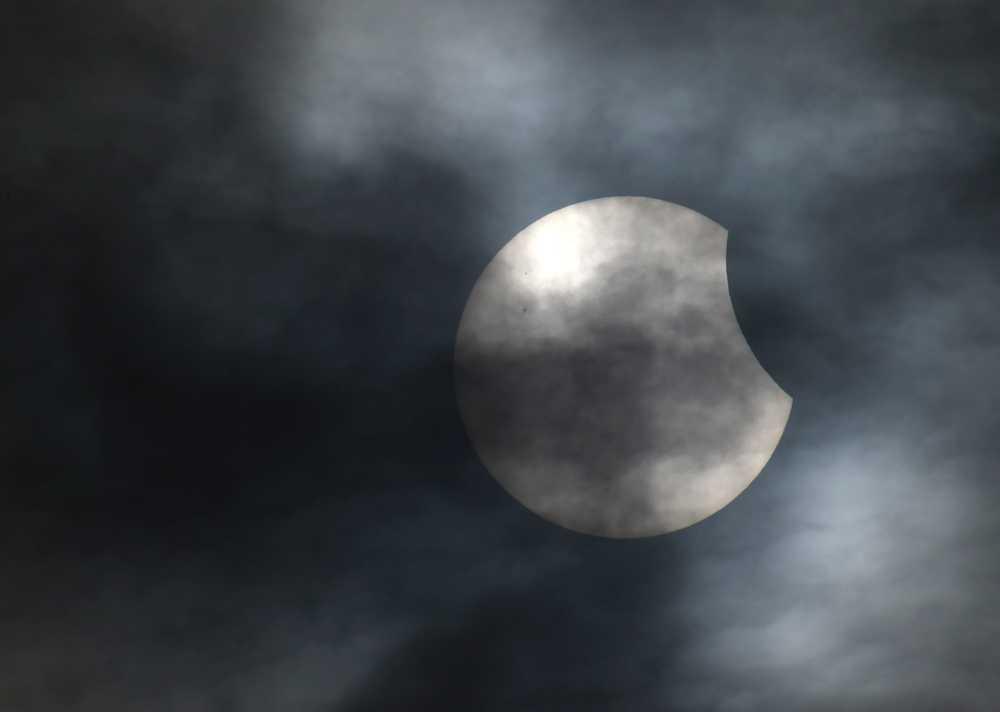 Solförmörkelsen fångad i närheten av Bridgwater i sydvästra England.