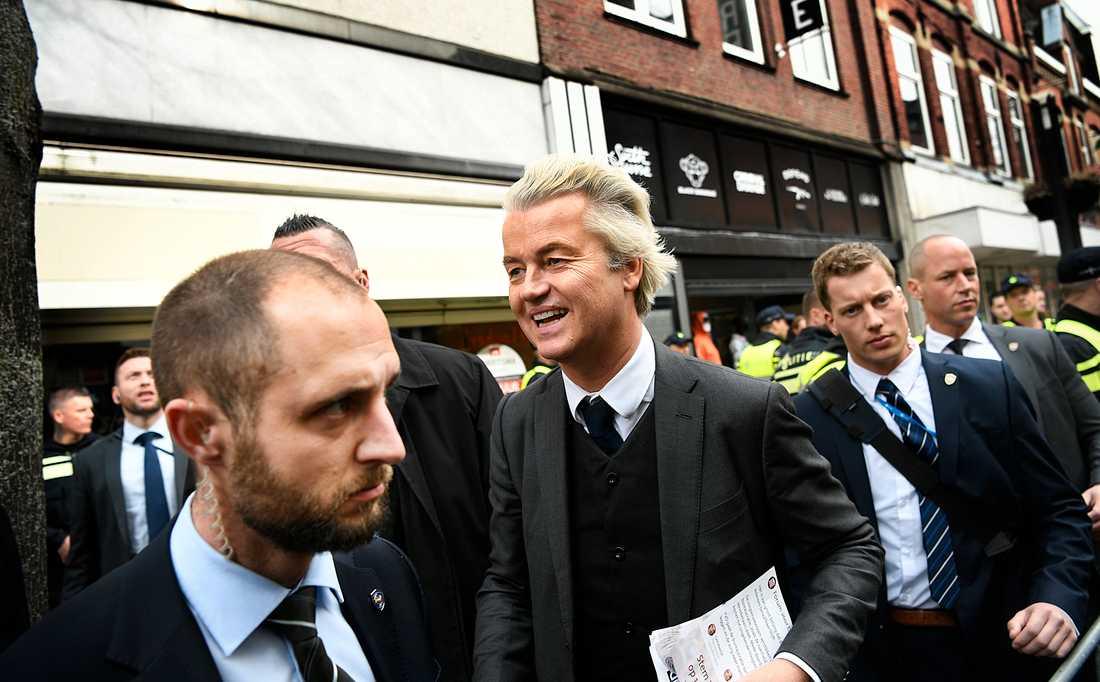 Den högerpopulistiska ledaren Geert Wilders.