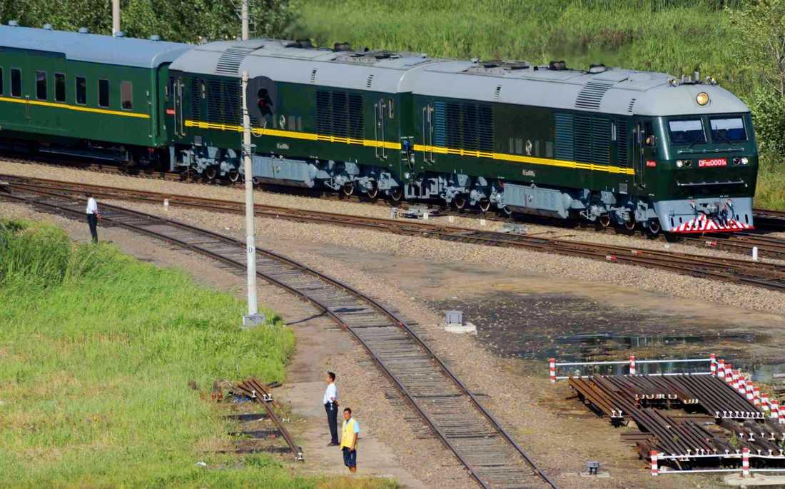 Det gröna tåget har Kim Jong-un ärvt av sin pappa Kim Jong Il. Det kör inte snabbare än 60 kilometer i timmen.