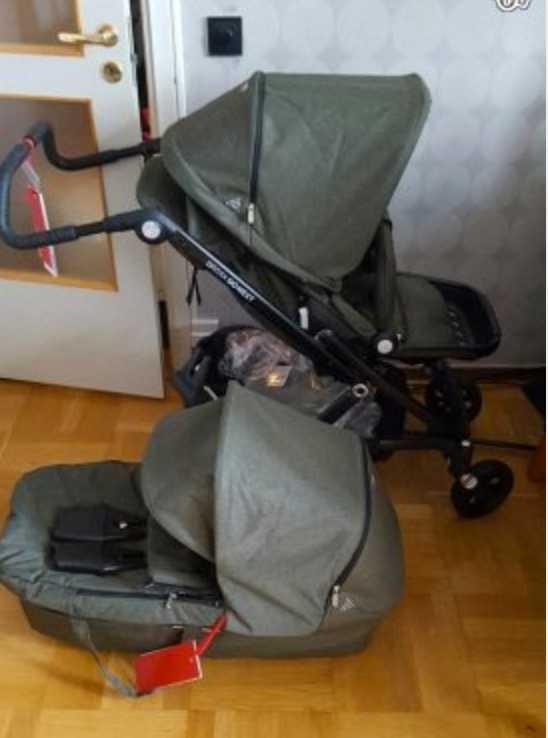 Den omtalade barnvagnen.