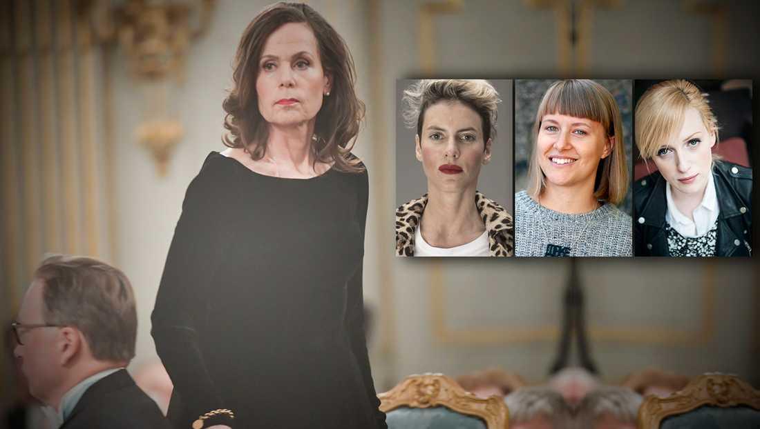 Sara Danius blev inte bara en symbol för alla kvinnor som ställts ansvariga och fått gå – utan vi såg även hur flera av Akademiens manliga ledamöter blev symboler för alla de som inte förstått att det är en ny tid nu, skriver debattörerna.