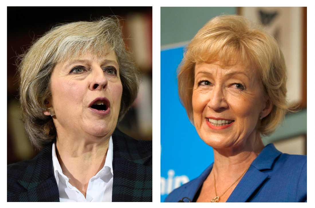 Theresa May och Andrea Leadsom