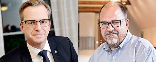 Mikael Damberg, näringslivsminister (S), och Karl-Petter Thorwaldsson, ordförande i LO.