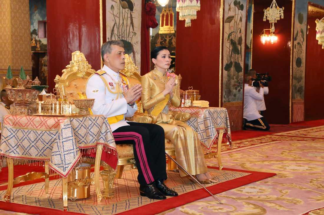 Kung Rama X och drottning Suthida. Arkivbild.