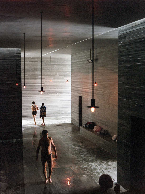7132:s spa, Therme Spa, i Vals. Även det arkitektsprisbelönat liksom övriga delar av resorten.