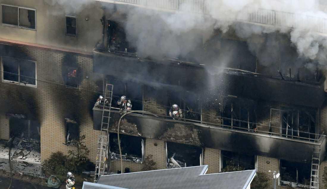 Branden i filmstudion misstänks vara anlagd.